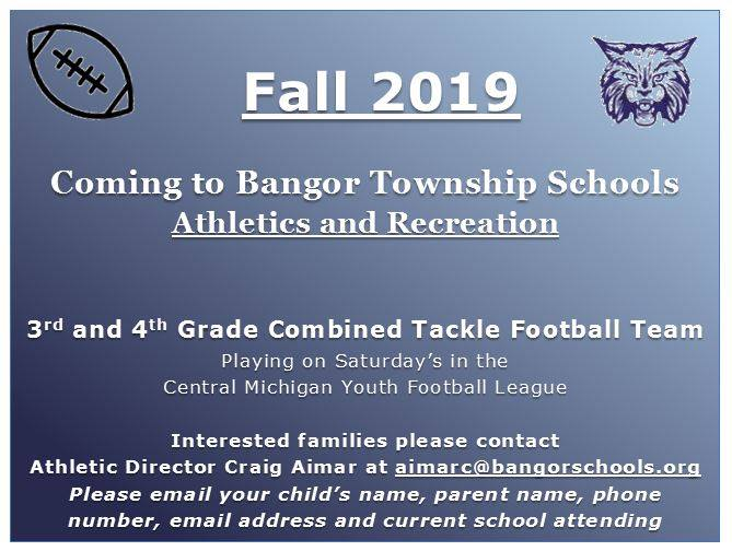 3rd/4th Grade Tackle Football Program